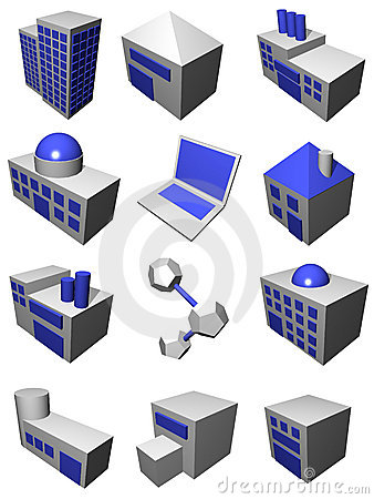 Free Supply Chain Logistics Industry Set In Gray Blue Stock Image - 4265061