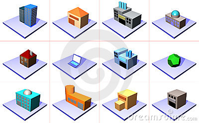 Supply Chain Management Icon Symbol Set