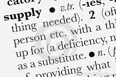 Supply word dictionary definit
