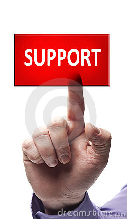 Free Support Button Stock Photo - 22546000