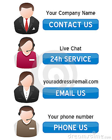 Free Support Contact Us Banners Stock Photos - 20385843