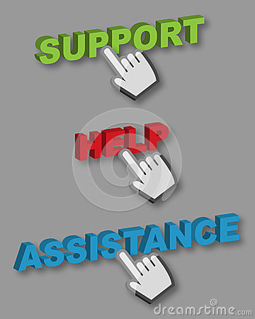 Support Help Assistance buttons