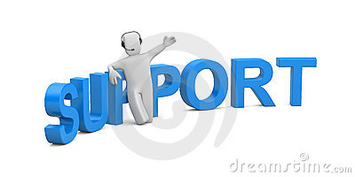 Support. Image contain clipping path