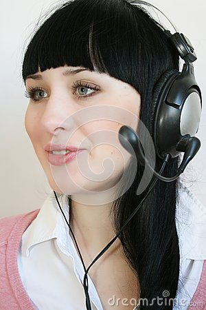Support operator woman