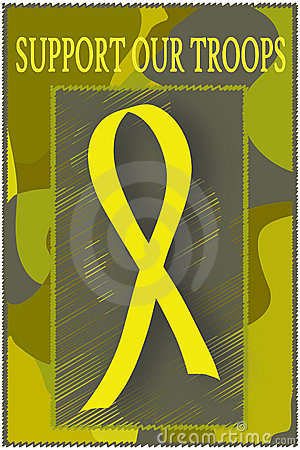 Support Our Troops - Yellow Ribbon
