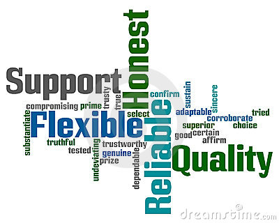 Support and Reliability Words