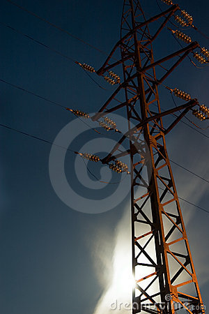 Support of a transmission line