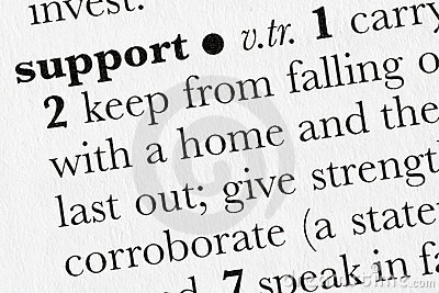 Support word dictionary defini