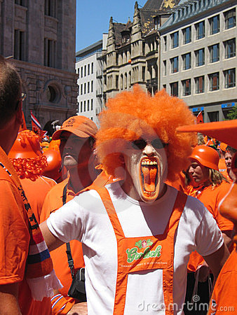 Supporters of the Dutch National Football Team Editorial Photo