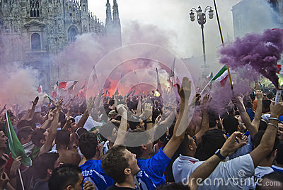 Supporters, euro 2012 Editorial Photo