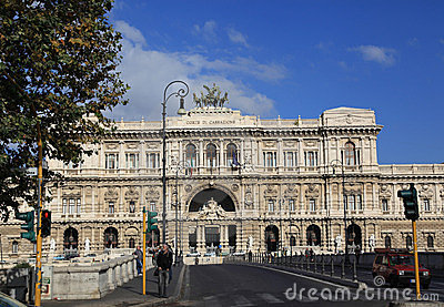 Supreme Court of Italy Editorial Stock Photo