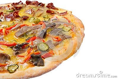 Supreme Pizza  isolated