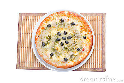 Supreme Pizza  isolated