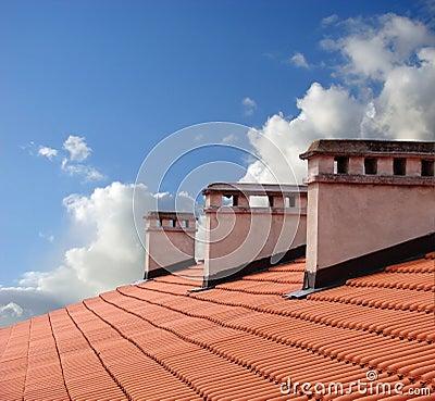Sur un toit