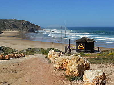 Surf beach of Portugal Editorial Photo