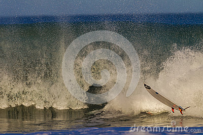 Surf Board  Air Wipe Out Water Editorial Image