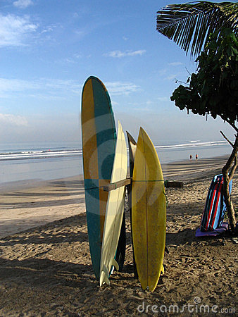 Free Surf Boards In Bali Stock Images - 495934