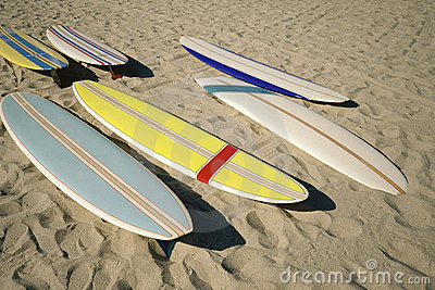 Surf boards on sand