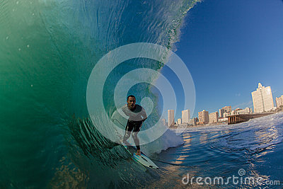 Surf City Durban Surfer Wave Editorial Stock Photo