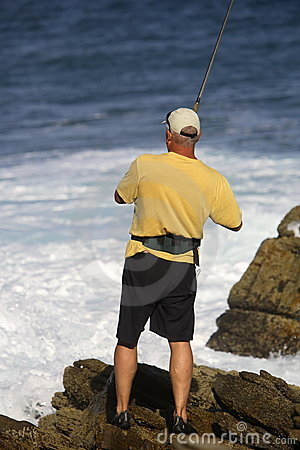 Free Surf Fishing Royalty Free Stock Images - 1744499