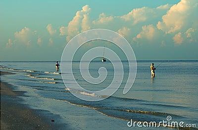 Surf fishing Fort Myers Beach Florida