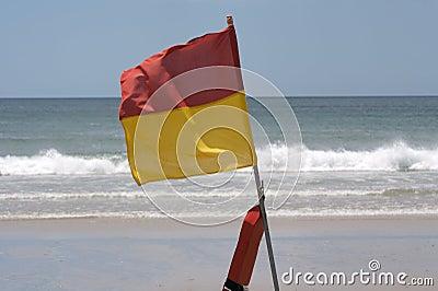 A surf lifesaving flag