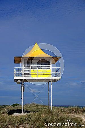 Surf lifesaving tower