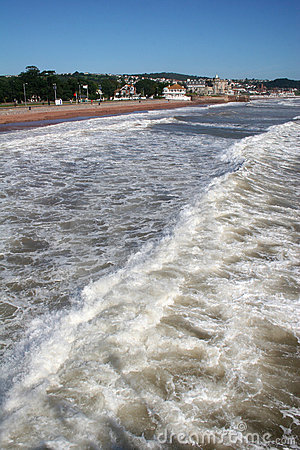 Surf on Paignton beach