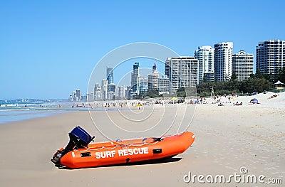 Surf Rescue Boat Surfers Paradise