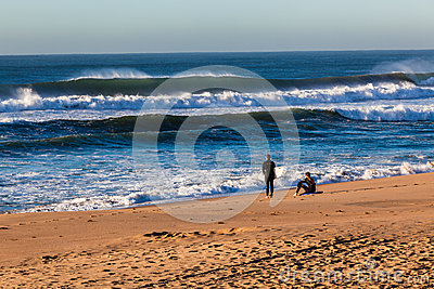 Ocean Waves Beach Surf Riders Editorial Image