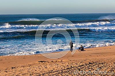 Ocean Waves Beach Surf Riders Editorial Image
