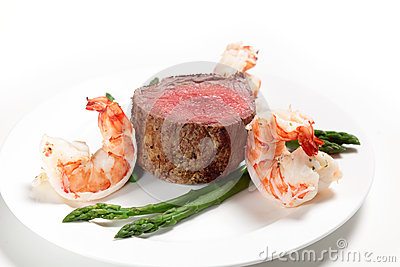Surf and turf side view
