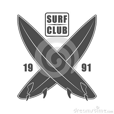 Free Surf Wear Typography Emblem. Creative Surfing T-shirt Graphic Design. California Surfers Print Stamp In Monochrome Style Stock Photos - 138942853