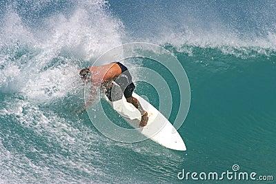 Surfa white för surfingbrädasurfare