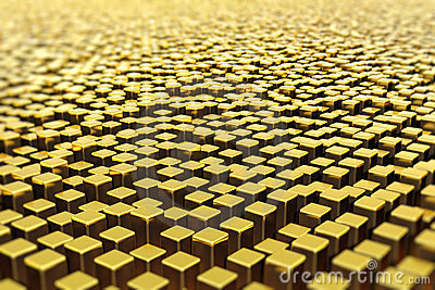 Surface of golden bars