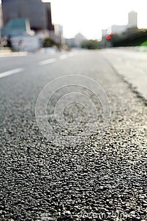 Empty Urban Road