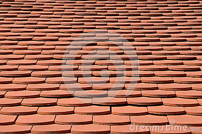 Surface of the red tile roof