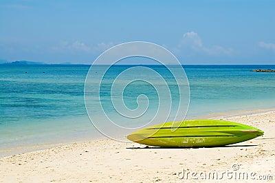 Surfboard at beach