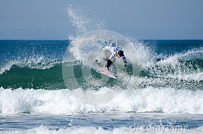 Surfer during the 4th stage of MEO Editorial Photo