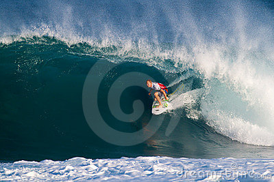 Surfer Adam Melling Surfing the Pipeline Masters Editorial Stock Photo