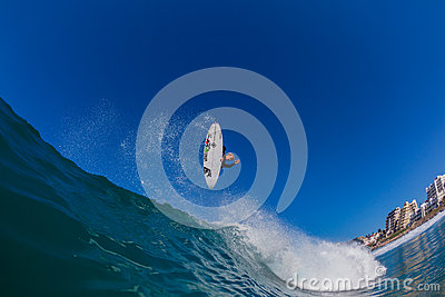 Surfer Air Wave Water Photo Editorial Photo