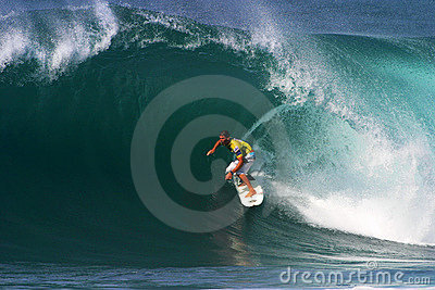 Surfer Andy Irons Surfing at Backdoor Hawaii Editorial Photo