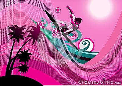 Surfer background