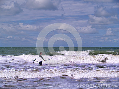 Surfer at the beach