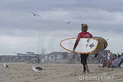 Surfer Belmar Editorial Image