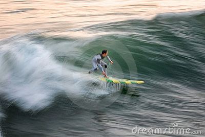 Surfer Blur: Speed & Intensity