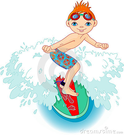 Free Surfer Boy In Action Royalty Free Stock Images - 14567409