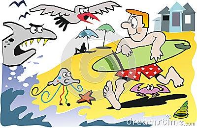 Surfer cartoon