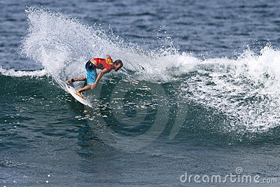 Surfer Cory Lopez surfing in the Hawaiian Pro Editorial Stock Image