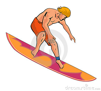 Surfer dude white bg